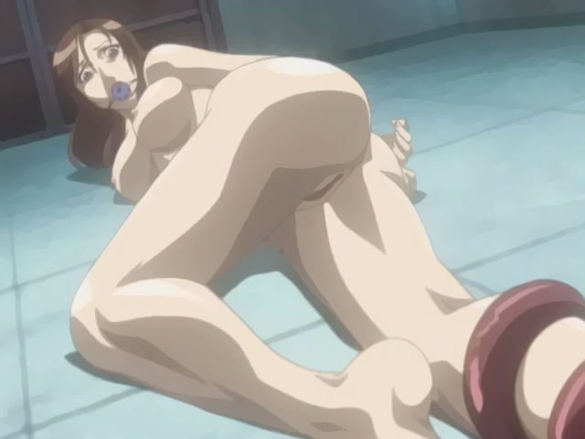 Hentai lezzy girls share double dildo
